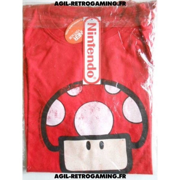 T-Shirt Nintendo Power-Up Rouge