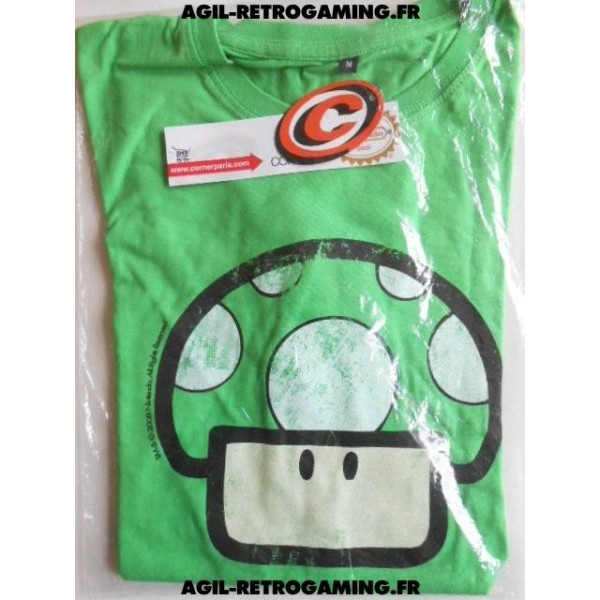 T-Shirt Nintendo Power-Up Vert
