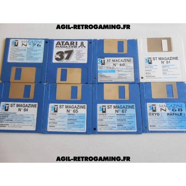 Lot de 8 disquettes Atari - ST Magazine