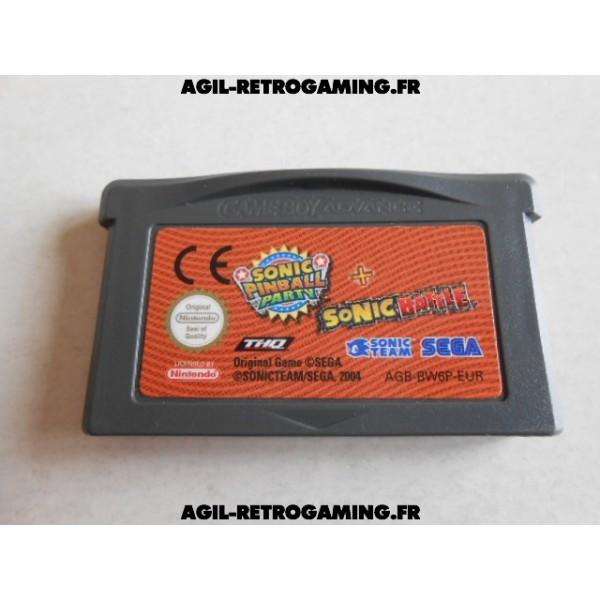 Pack de 2 jeux en 1 : Sonic GBA