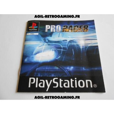 Pro Racer - Mode d'emploi