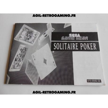 Solitaire Poker GG - Mode d'emploi