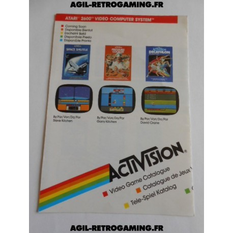 Catalogue de jeux Activision