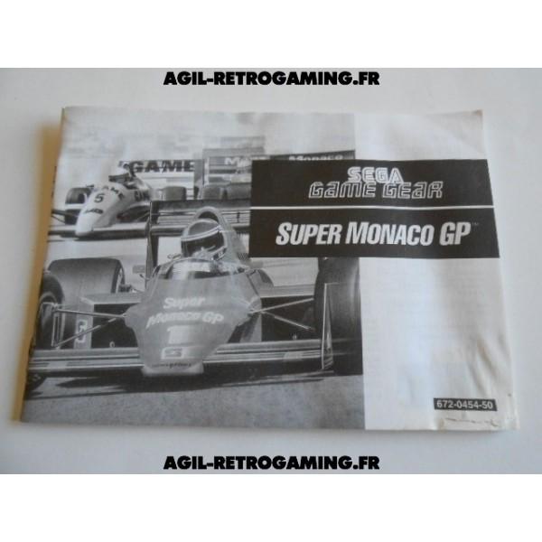 Super Monaco GP - Mode d'emploi GG