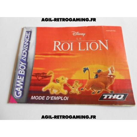 Le Roi Lion GBA - Mode d'emploi