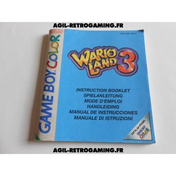Warioland 3 GBC - Mode d'emploi