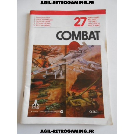 Combat - Notice Atari 2600