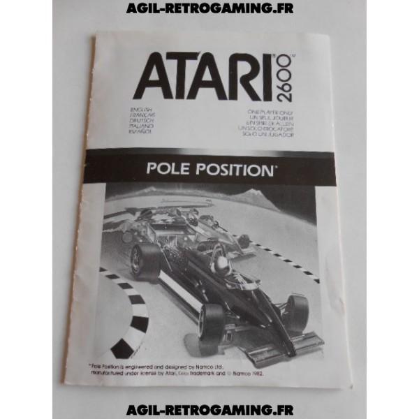 Pole Position - Mode d'emploi Atari 2600