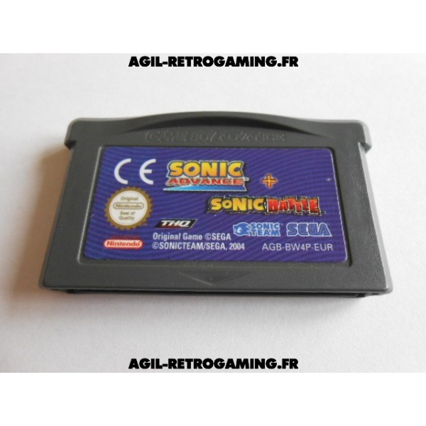Pack de 2 jeux en 1 : Sonic Advance + Sonic Battle