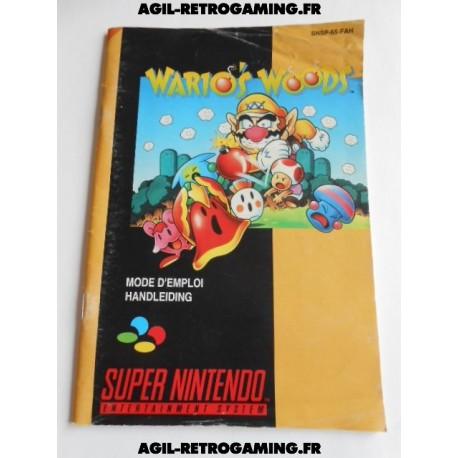 Wario's Woods - Mode d'emploi SNES