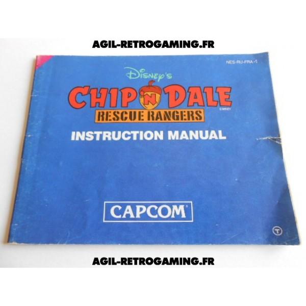 Chip'n Dale NES - Mode d'emploi