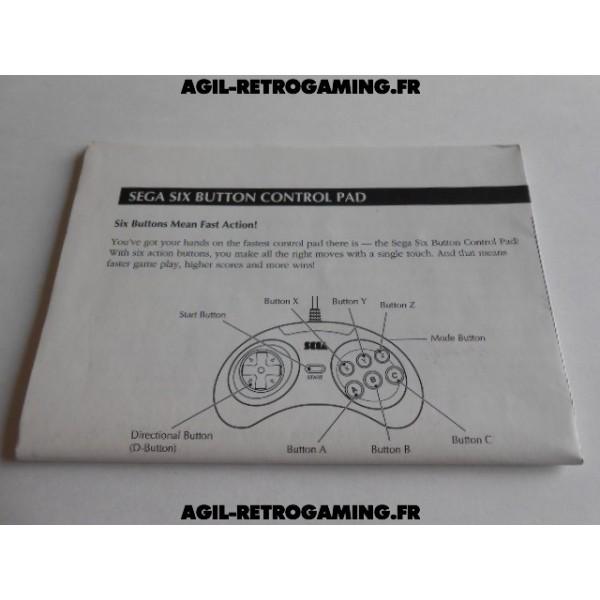 Manette 6 Boutons Sega MD - Notice