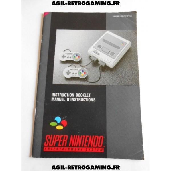 Mode d'emploi Console Super Nintendo