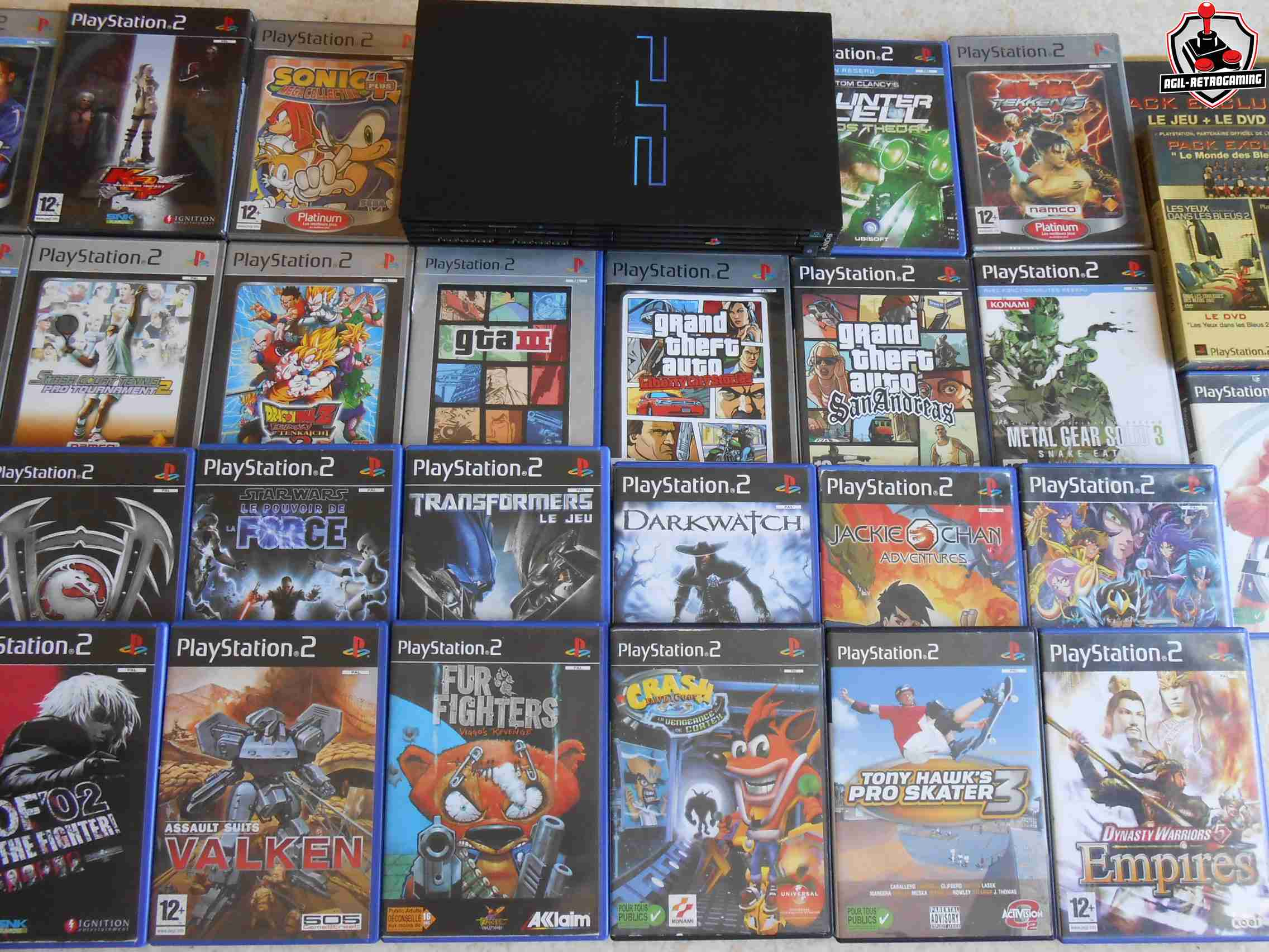 arrivage playstation 2 console et jeux vid o sur blog agil retrogaming. Black Bedroom Furniture Sets. Home Design Ideas