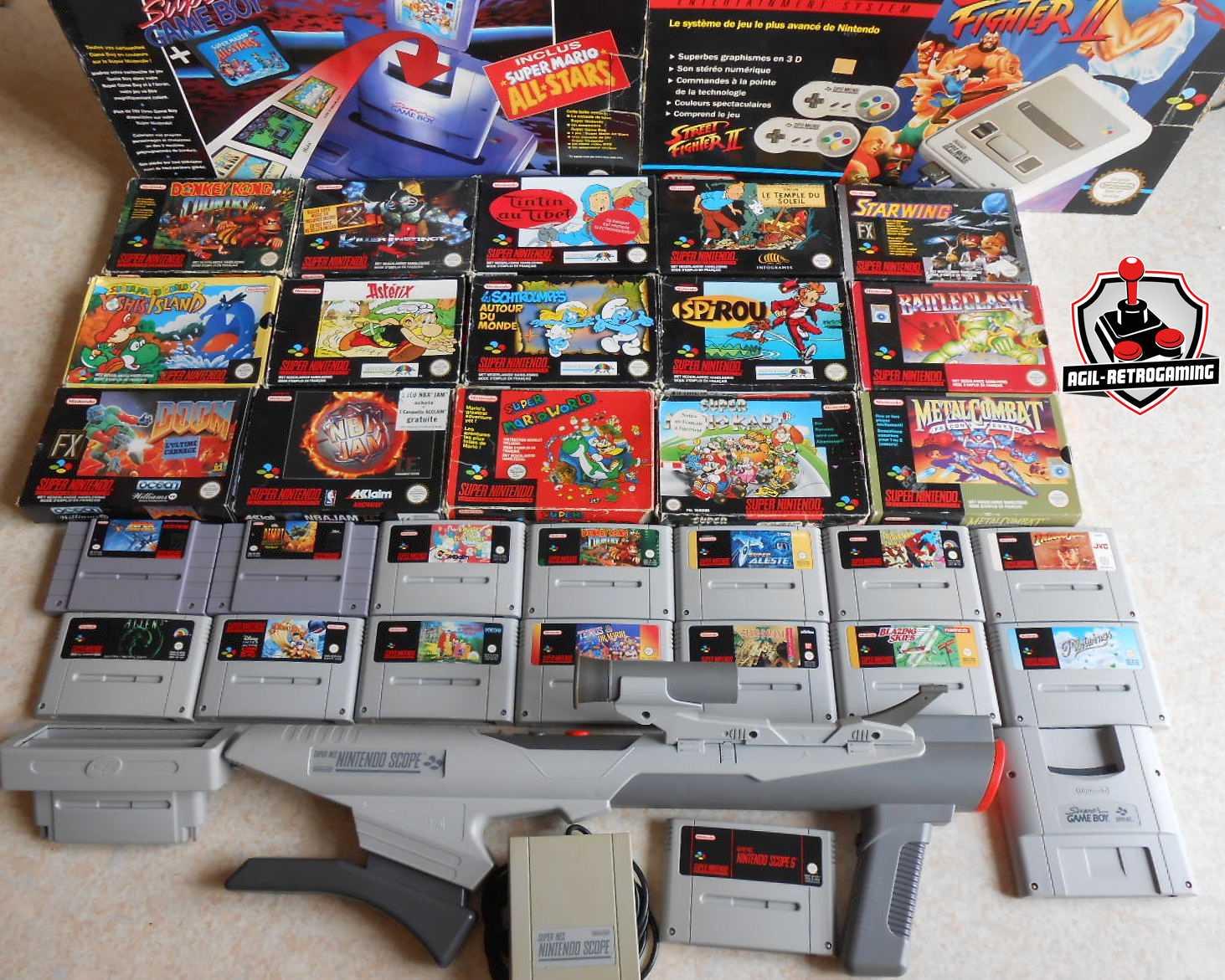 Arrivage de jeux et consoles super nintendo en boite blog agil retrogaming - Ancienne console de jeux ...