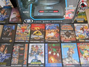 Console et jeux Sega Megadrive en boite