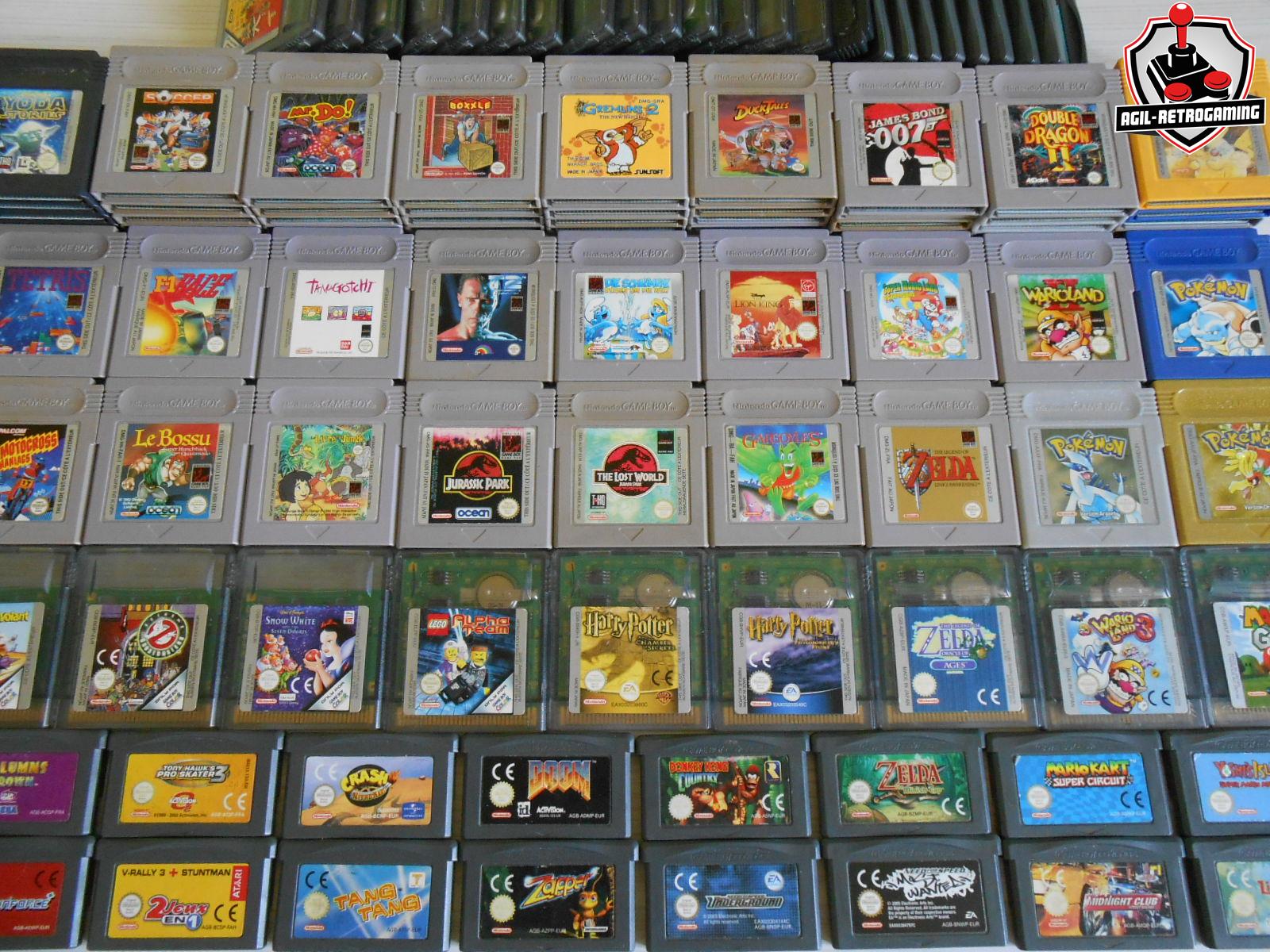 Jeux Game Boy, GBC et GBA en loose