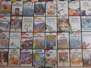 Arrivage de jeux Sega Master-System