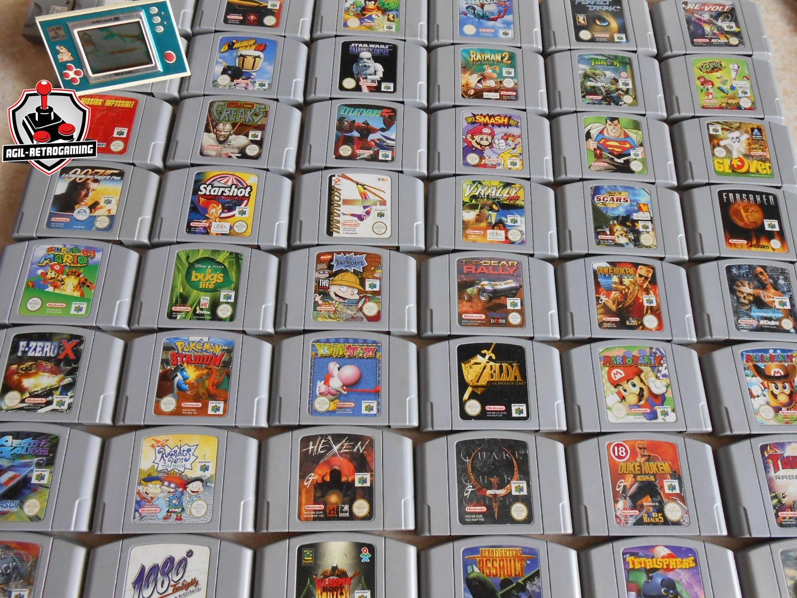 Nouveautés Nintendo 64 - N64 : Zelda OOT, Super Smash Bros, DKR, Rayman 2, Yoshi's Story, Mario Party 1 & 2, Quake, Duke Nukem, Turok, Hexen