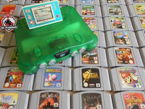 Jeux et consoles N64 : SuperMan, Pokémon Stadium, Tonic Trouble, Glover, Perfect Dark, Star Wars, Bomberman 64, 1080°
