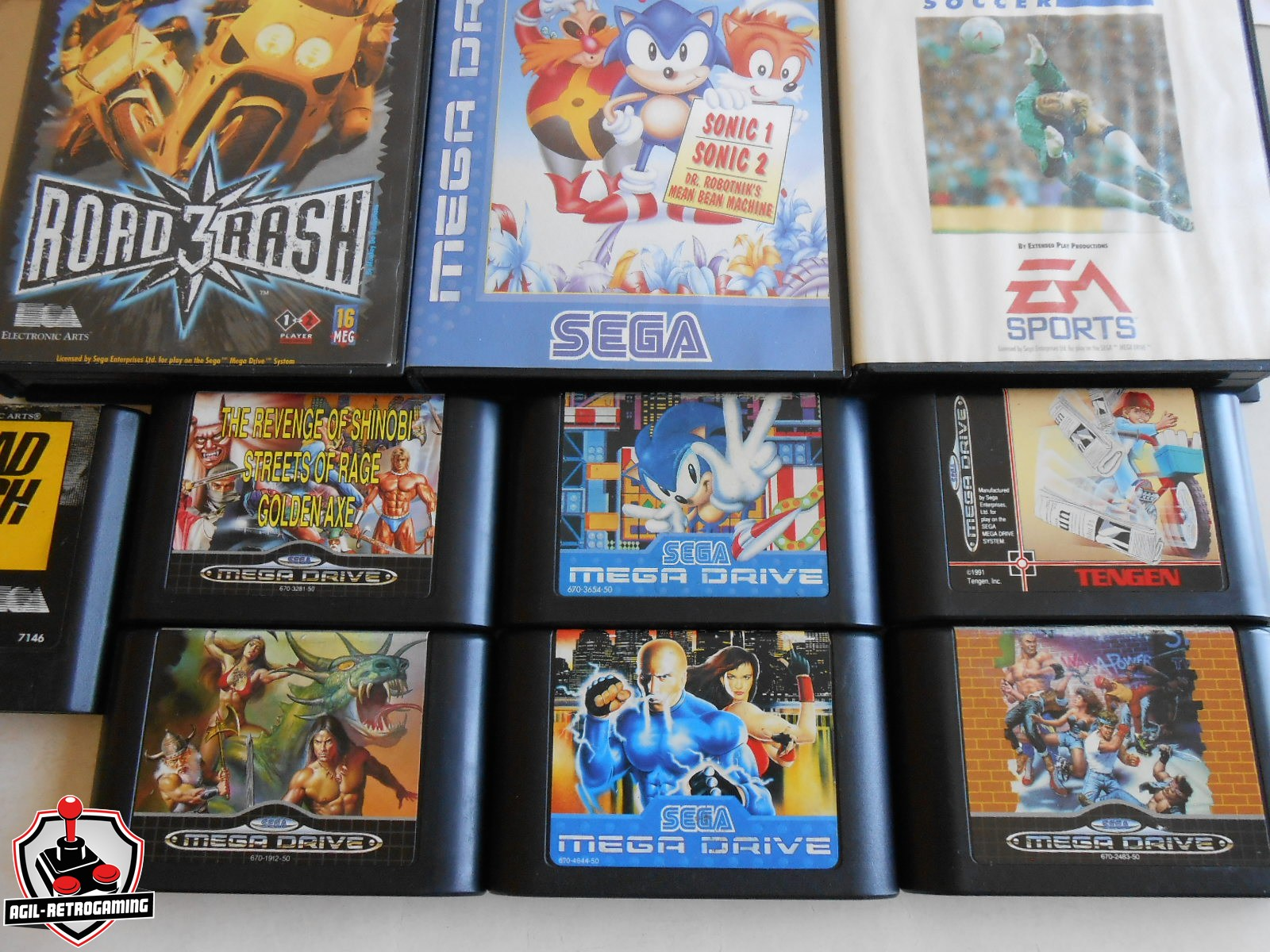 Jeux Sega Megadrive : Streets Of Rage 2 & 3, Golden Axe 2, Road Rash 2 & 3
