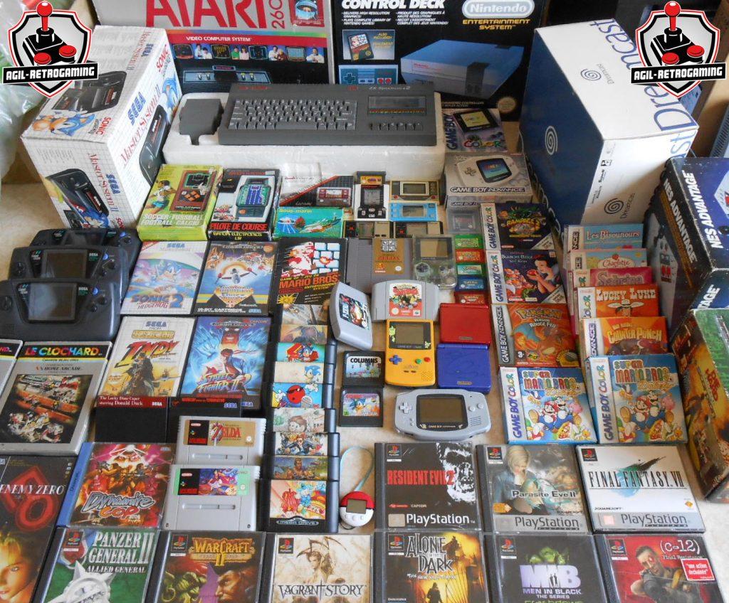 Console et jeux rétro en boite : Atari 2600, Dreamcast, NES, Master-System